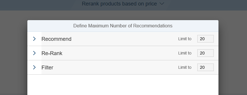 sap hybris marketing maximum number of recommendation