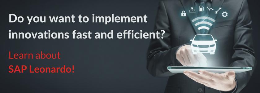 sap leonardo fast innovation implementation