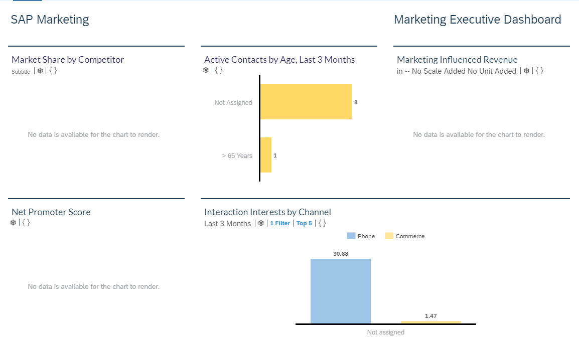 Users get access to Marketing Executive Dashboard